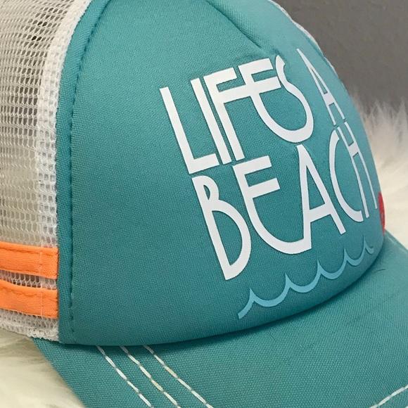 10e67e60ee8506 Roxy Accessories | Trucker Style Cap Lifes A Beach | Poshmark
